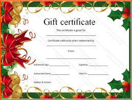 christmas massage gift certificate template template design