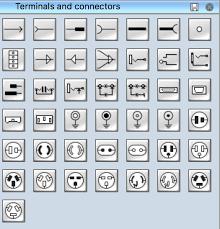electrical symbols terminals and connectors