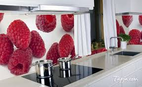gorgeous fruits models of sticker for kitchen above backsplash as