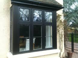 stylish black pvc bay window by frame force window design ideas stylish black pvc bay window by frame force