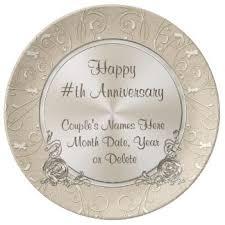 personalized wedding plate 1st anniversary plates zazzle