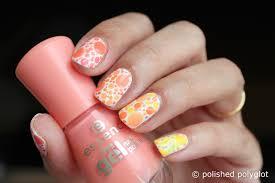 nail art designs for short nails peach or lemon skittles