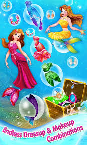 mermaid princess makeover game android apps google play