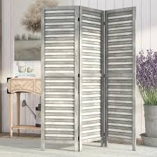 room dividers beck 4 panel room divider gray tropical screens and