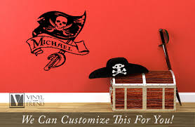 Custom Stick Flags Pirate Flag Wall Decor With Sword And Scroll Custom Name A