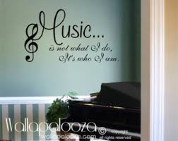 Music Note Home Decor Music Wall Decal Etsy