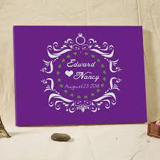 purple wedding guest book 2016 custom wedding album diamond ring purple wedding guest book
