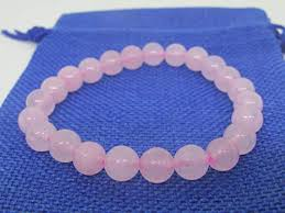 rose quartz beads bracelet images Plusvalue pink rose quartz beads bracelet for love relationship jpg