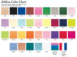 ribbon color color charts promotional items more