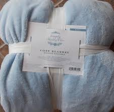 Simply Shabby Chic Baby by Upc 490620203040 Simply Shabby Chic Cozy Baby Blue Plush Blanket