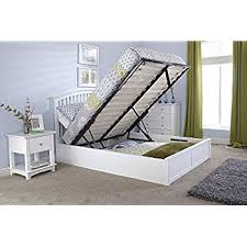 King Size Ottoman Bed Birlea Phoenix 5 U00270 King Size Ottoman Bed In White Amazon Co Uk