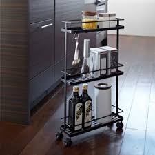 tower kitchen storage cart zola Bathroom Storage Cart