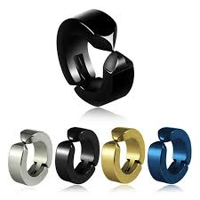 earing for boys anti allergy korean boys and black titanium earrings