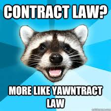 Contract Law Meme - contract law more like yawntract law lame pun coon quickmeme