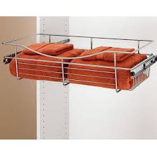 High Line Kitchen Pull Out Wire Basket Drawer 12 U0027 U0027 Deep Closet Or Kitchen Cabinet Heavy Gauge Pull Out Wire