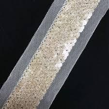 bulk lace ribbon gold bulk 4mm diameter flat pvc metallic sequins ribbon
