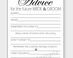 Advice To Bride And Groom Cards Advice For The Bride U0026 Groom Printable Cards For A Wedding Or