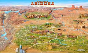 map attractions northern arizona attractions map arizona mappery