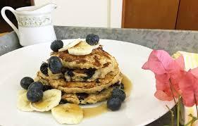 greek yogurt banana and blueberry pancakes dinner tonight