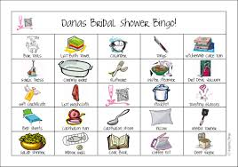 bridal shower gift bingo registry bingo
