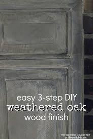 easy 3 step diy weathered oak finish for wood just like