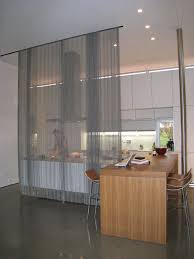 Metal Room Divider Woven Wire Metal Room Divider Modern Kitchen Portland By