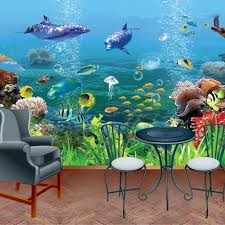 custom size 3d stereoscopic wall mural wallpapers for kids the