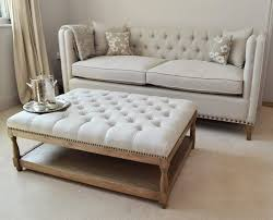 Diy Area Rug From Fabric Diy Ottoman Coffee Table With White Covered Tufted And Nailhead