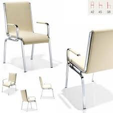 fauteuil cuisine fauteuil cuisine salle à manger design chrome et pu ecru line