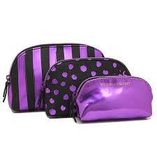 victoria s secret bag victorias secret 343831 3jw beauty bag trio makeup pouch purple script