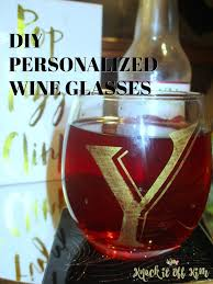 diy monogram wine glasses how to make personalized wine glasses for gifts knock it