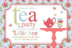 Example Of Invitation Card For Birthday Tea Party Invitation Dhavalthakur Com