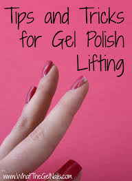 tips and tricks for gel polish lifting