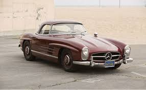 mercedes auctions auctions america will offer 1957 mercedes 300sl roadster