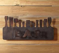 wall decor for home bar bar wall art pottery barn