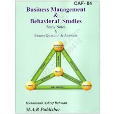 500 mcqs business management u0026 behavioural studies pac cbpbook