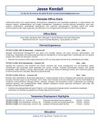 Sample Resume Data Entry by General Office Clerk Sample Resume 6 Resume Sample General Clerk