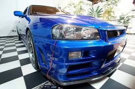 nissan skyline r34 paul walker paul walker u0027s nissan skyline gt r from fast u0026furious 4 up for sale