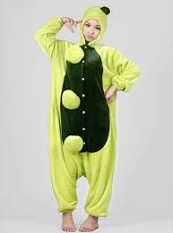 Elmo Halloween Costumes Unisex Fannel Animal Onesie Pajamas Costume Green Pea