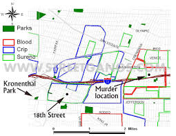 Compton Gang Map Arlington Heights West Adams Area Streetgangs Com