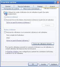 connexion bureau à distance windows xp windows xp sp2 ouvrir plusieurs sessions simultanément de