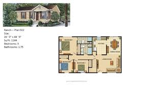 2 bedroom 2 bath modular homes modular home ranch plan 922 2 jpg