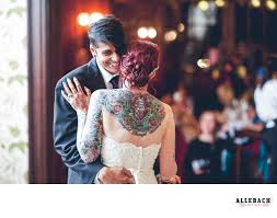 tattooed bride and groom dancing tattooed philadelphia wedding