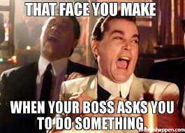 That Face You Make When Meme - that face you make when your boss asks you to do something meme