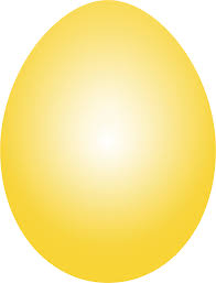clipart yellow easter egg