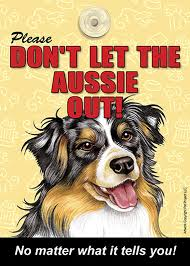 australian shepherd gifts australian shepherd don u0027t let the breed out dog sign suction cup