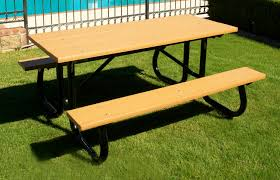 recycled plastic picnic tables extra heavy duty recycled plastic picnic tables pw athletic mfg
