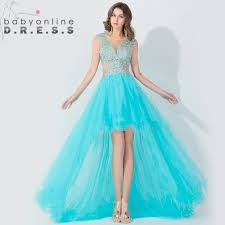 Light Blue High Low Dress Elegant Light Blue High Low Long Prom Dresses 2016 Open Back