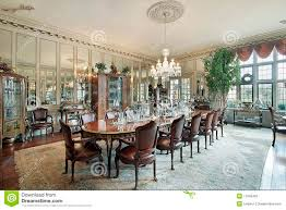 dining room wall mirrors formal dining room with wall mirrors stock photos image 11995453