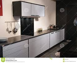 black white kitchen designs black and white kitchen design stock photo image 52560461
